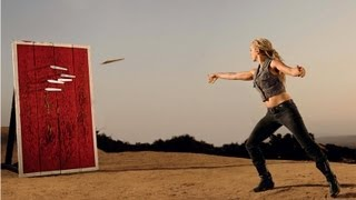 Knife Throwing, Trick Shots!