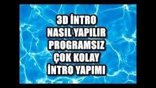 Programsız 3D intro yapımı!!Cinema 4D ve Blender olmadan!