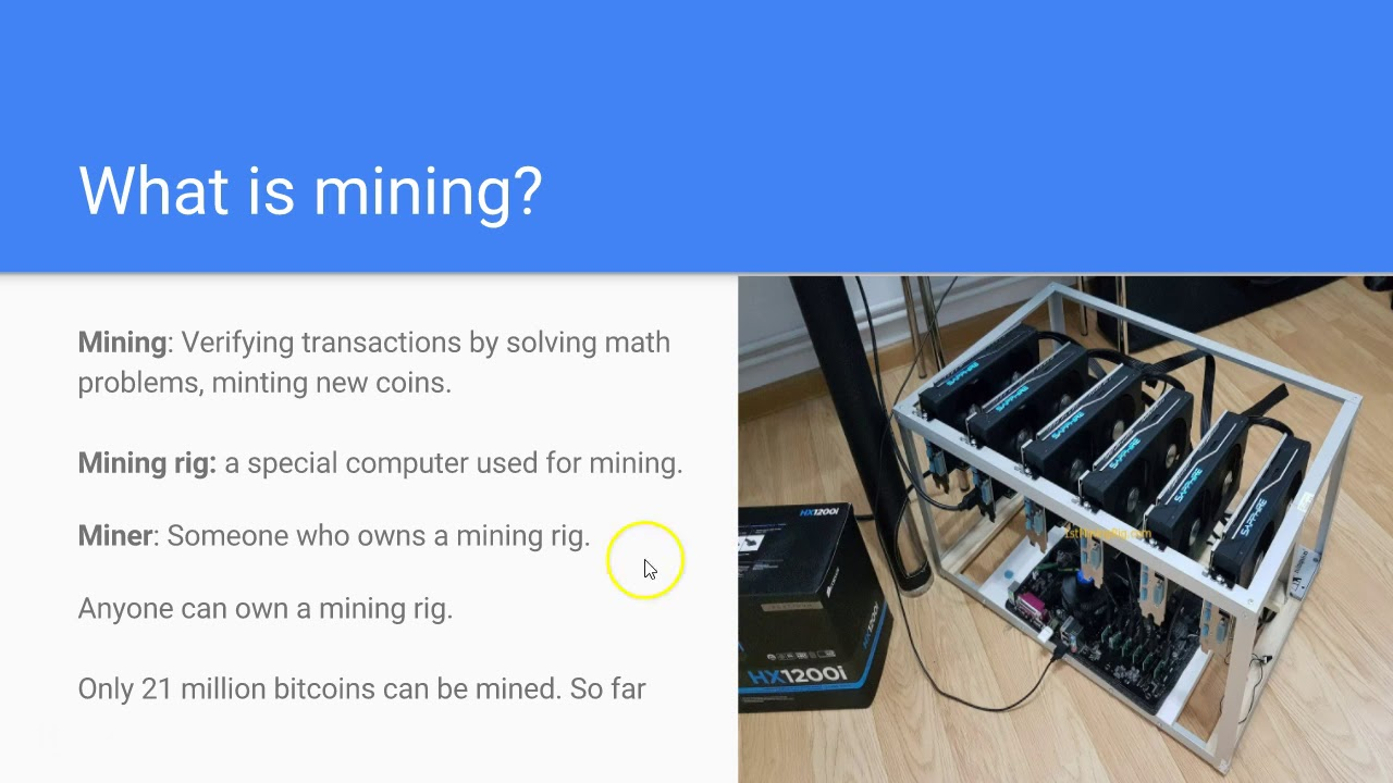 what is cryptocurrency mining used for