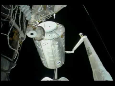 NASA Space Shuttle STS 98, Destiny Laboratory Module ISS footage