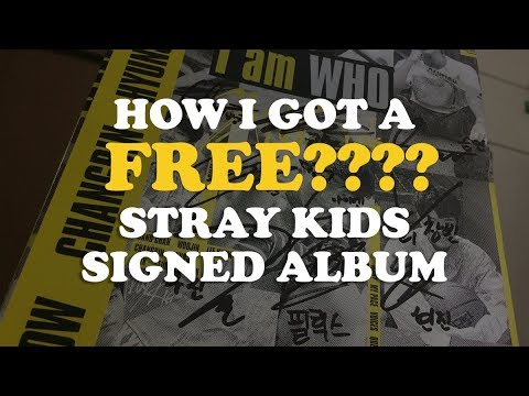 HOW I GOT A STRAY KIDS SIGNED ALBUM FOR FREE?!?! + UNBOXING