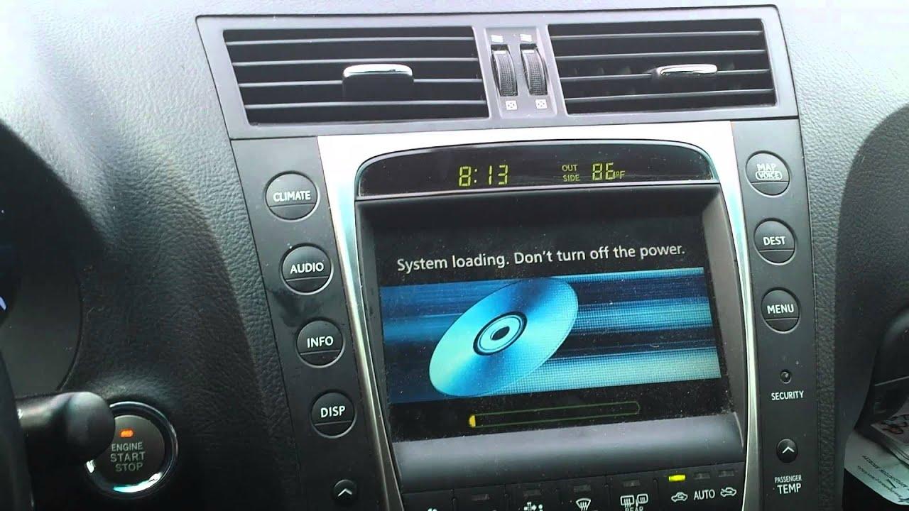 2008 Lexus GS350 map update process - YouTube