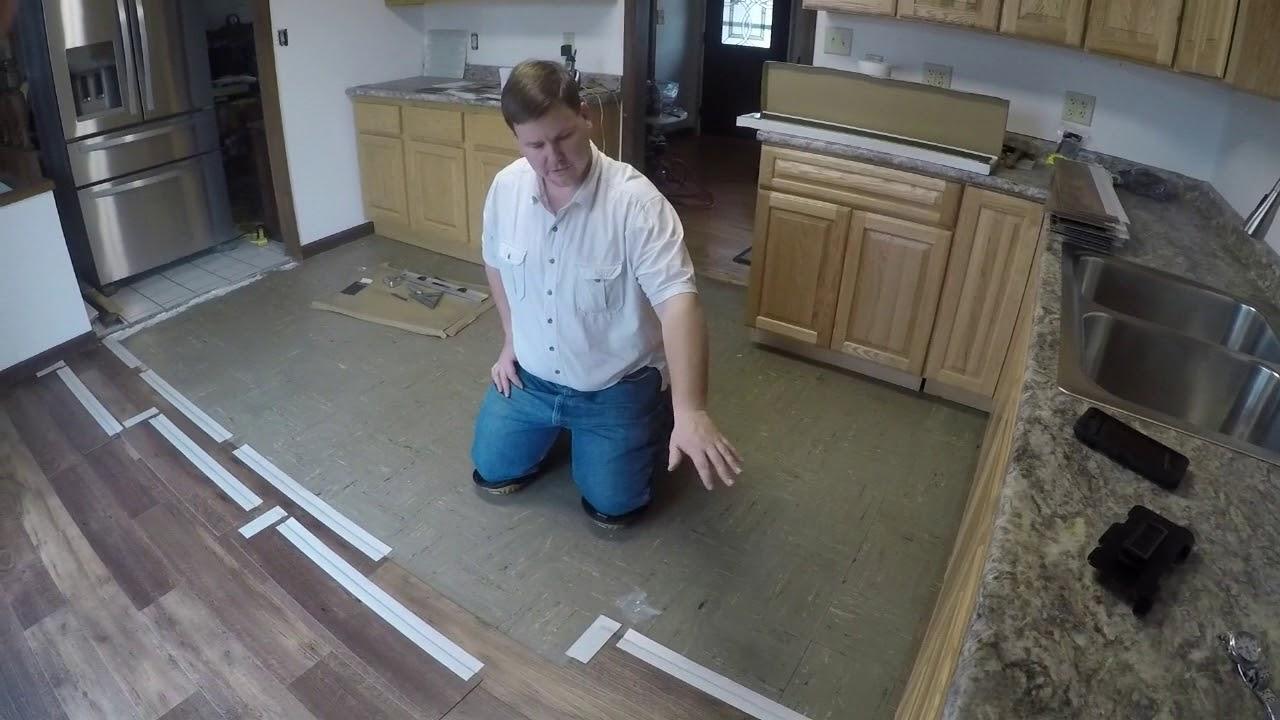 Tommy Retro Installing Congoleum Care Free Plank System Vinyl Flooring