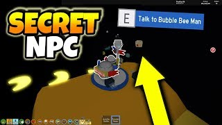*SECRET* BUBBLE BEE MAN NPC HAS BEEN FOUND! (Roblox Bee Swarm Simulator Beesmas Update)
