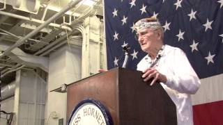 "Pearl Harbor Survivor Earl J. ""Chuck"" Kohler at USS Hornet Museum Living Ship Day 2013 part 4"
