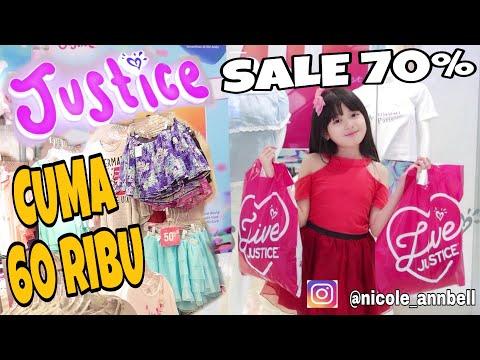 SHOPPING DI JUSTICE INDONESIA SALE 70 % JADI  MURAH LHO| NICOLE ANNABELLE