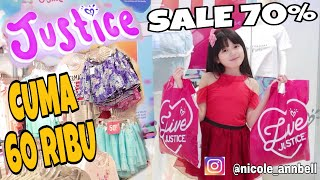 SHOPPING DI JUSTICE INDONESIA SALE 70 % JADI  MURAH LHO  NICOLE ANNABELLE thumbnail