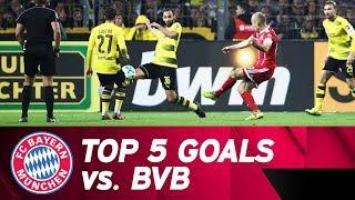 Top 5 Goals vs. Borussia Dortmund | Arjen Robben at his best!