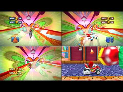 Sonic & Sega all Star Racing 3 player split screen championship 4k