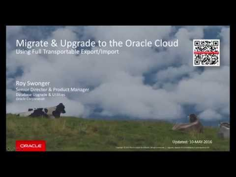 Full Transportable Export/Import into the DBaaS Cloud - Oracle 12c
