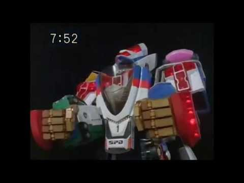 All Awesome Tousou Sentai Dekaranger Gattai Robot Combination S.P.D.