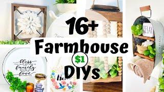 16+ Farmhouse Dollar Tree DIYs to Inspire you in 2021! High End Farmhouse Decor Ideas DIY Room Decor