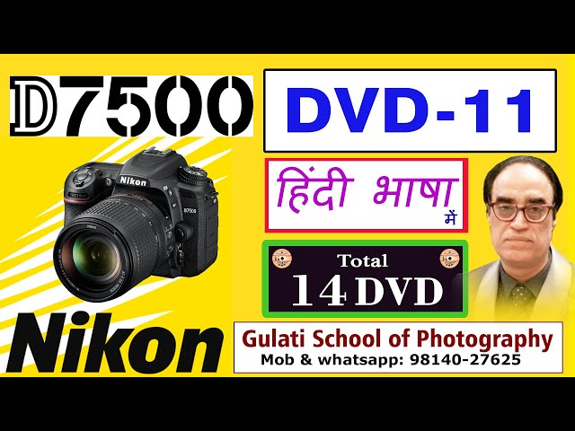 11 DVD | Best Quick Setting in Nikon D7500 Camera before Click the Photograph | कोर्स हिंदी में
