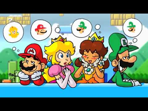 Happy Valentine's Day Mario peach Daisy and Luigi - YouTube