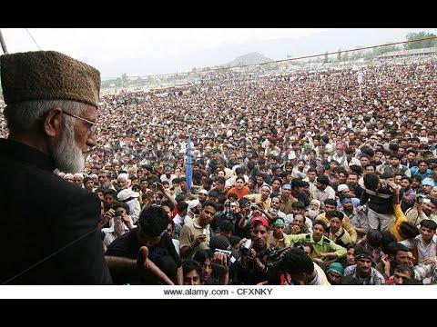 Syed Ali Gillani explaining Pakistan-Kashmir relationship.