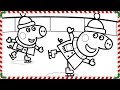 Peppa Pig Ice Skating Coloring Book Pages Kids Fun Art Coloring Video For Kids