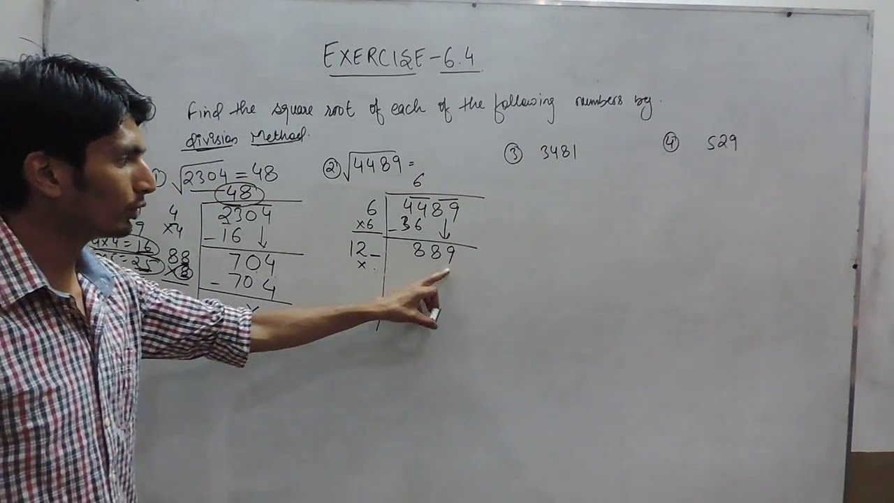 Squares and Square Roots Chapter 6 - Introduction - Ex 6 4 Q 1 NCERT Class  8th Maths Solutions