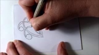 How I draw Mooka Tangle Pattern - Zentangle Inspired, Doodle, Zen Doodle