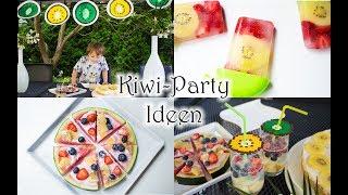 Rezepte und DIY-Ideen für eine kleine Kiwi-Party | Kiwi-Erdbeer-Eis | Wassermelonen-Pizza