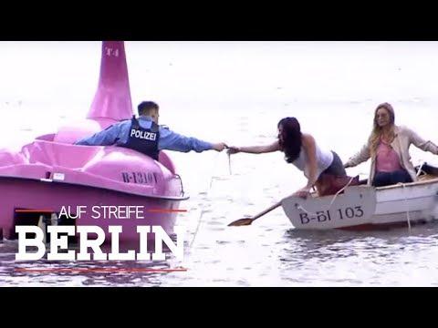 Drama auf dem Wasser: Rettungsaktion mit dem Tretboot  Auf Streife  Berlin  SAT.1 TV