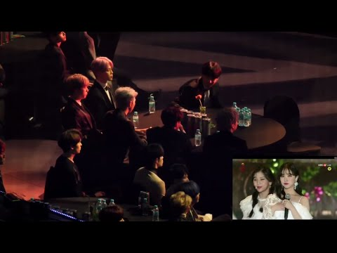 190115 BTS and Seventeen reaction to GFRIEND(여자친구) - Time for the moon night + Sunrise @SMA 2019.
