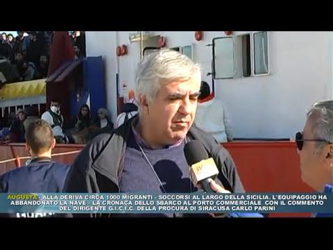 AUGUSTA - ALLA DERIVA CIRCA 1000 MIGRANTI, CRONACA DELLO SBARCO
