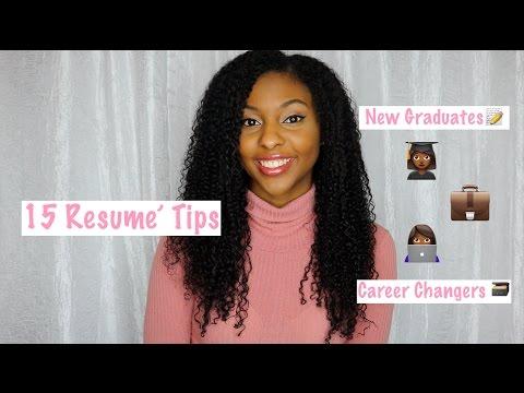 My Top 15 Resume' Tips