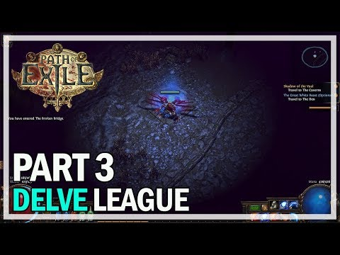 Path of Exile Delve League - Witch Let's Play Part 3 - Merveil Boss