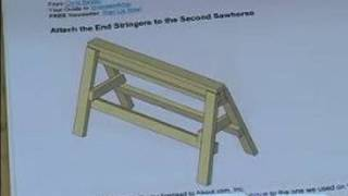 How To Build A Sawhorse : How To Cut & Attach The End Of A Sawhorse
