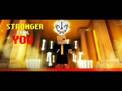 【Undertale】''Stronger Than you'' - by Kuraiinu【Minecraft Animation】