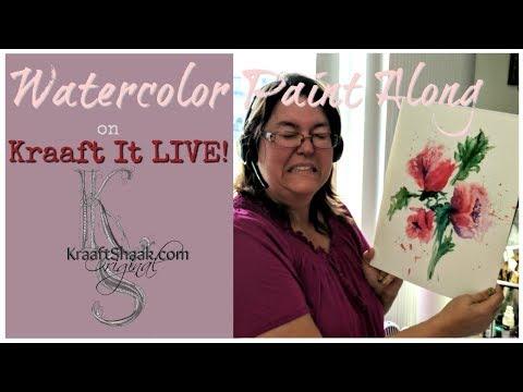 Watercolor paint along radiant florals on Kraaft It LIVE!