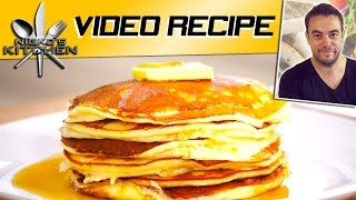 Healthy Pancakes (2 Ingredients) - Video Recipe