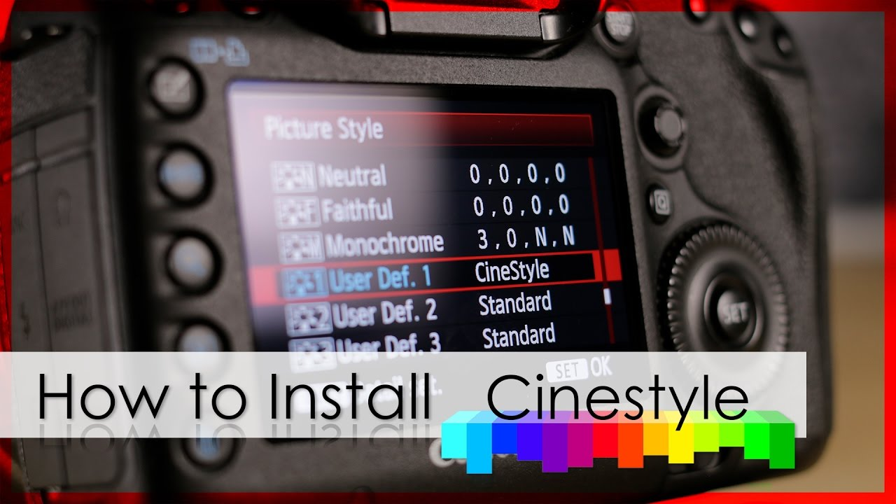 How To install CINESTYLE | The BlacBook [ENG/DEU]