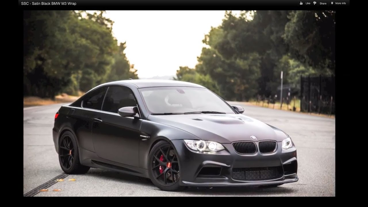 Ssc Satin Black Bmw M3 Wrap Youtube