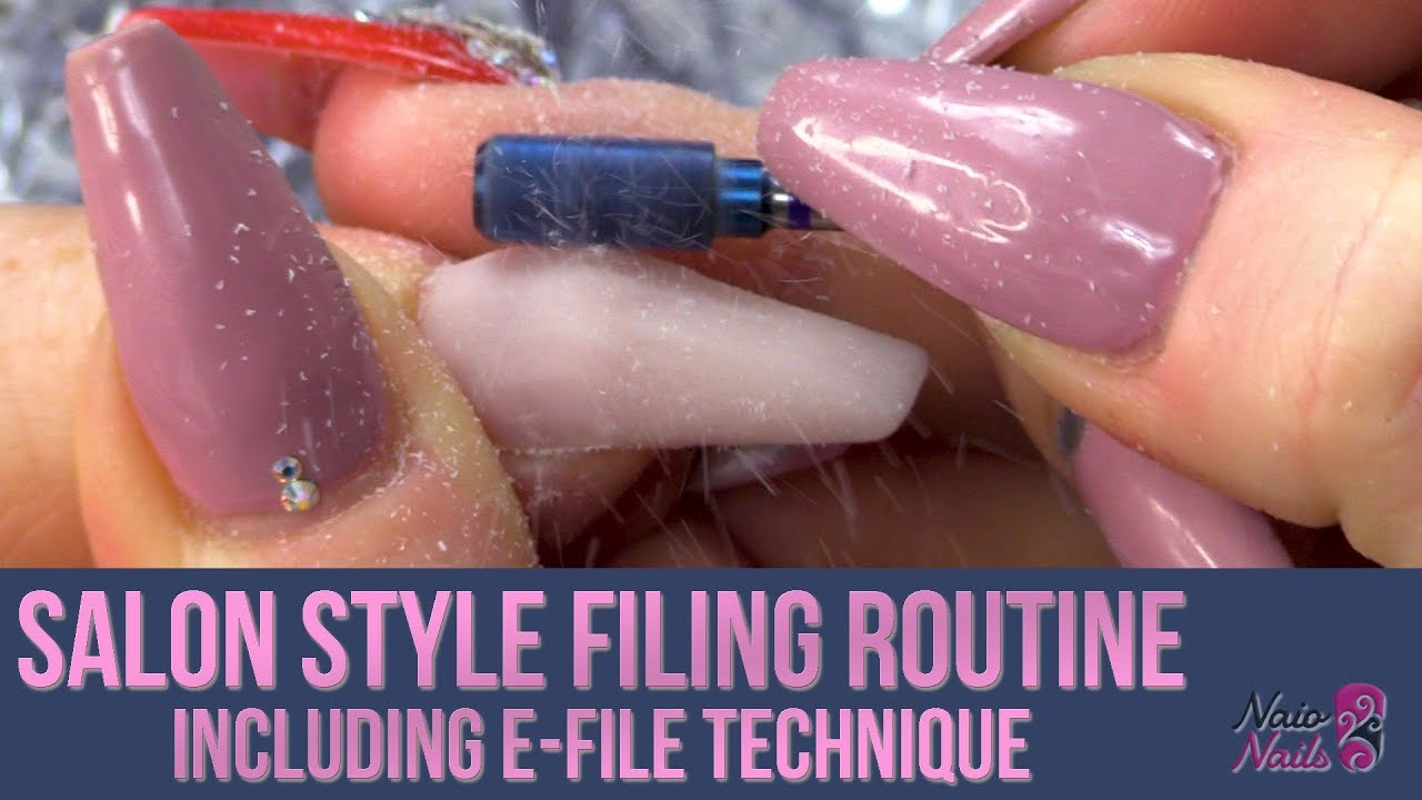 E-Filing Acrylic Nails - Salon Style Tutorial - Kirsty\'s Filing ...