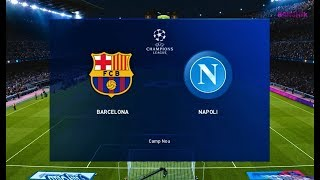 Barcelona vs napoli - uefa champions league 2020 match gameplay