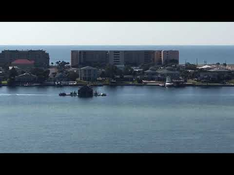 Floating structure is moved down Santa Rosa Sound