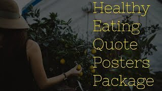 Viral social posters healthy eating quote package plr review demo bonus offer