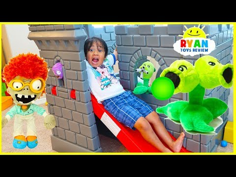 Plants Vs Zombies Plush : Zombies Return Pretend Play  With Ryan ToysReview!!!