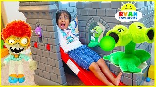 Plants vs Zombies Plush  Zombies Return Pretend Play  with Ryan ToysReview!!!