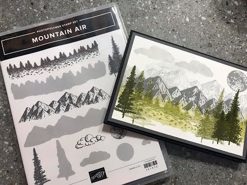 Epis 221 Stampin Up! 2020 Mini Catalogue Mountain Air Stamp Find Out How To Buy It Now With DonnaG!