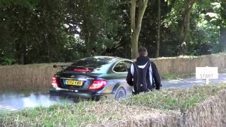 C63 AMG Black Series INSANE BURNOUT and REVS!!!