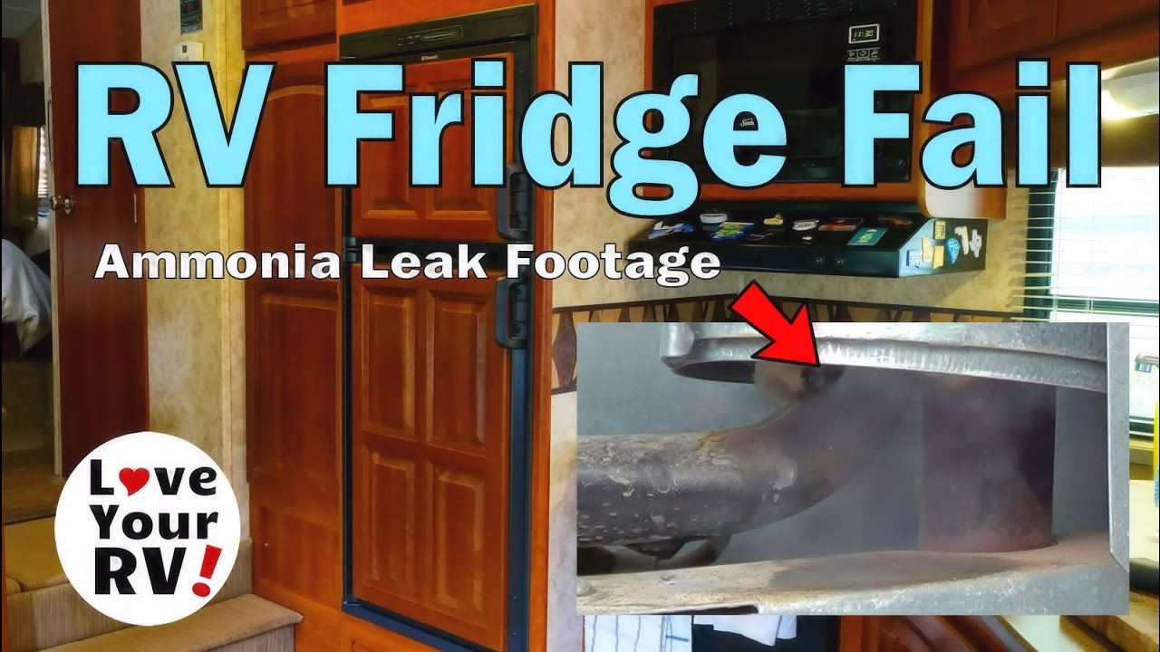 Fail Footage of our RV Refrigerator Leaking Ammonia