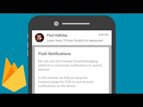 Push Notifications with Firebase Cloud Messaging and Cordova FCM on Android