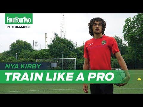 Crystal Palace wonderkid Nya Kirby | 1 v 1 and finishing session | Train like a Pro