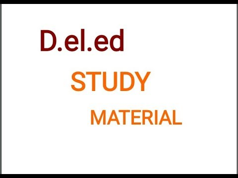 D.el.ed study material D.el.ed Free/cheapest online एजुकेशन college degree courses by nios.