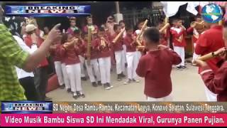 Video Musik Bambu Siswa SD Ini Mendadak V1r4l, Gurunya Panen Pujian.