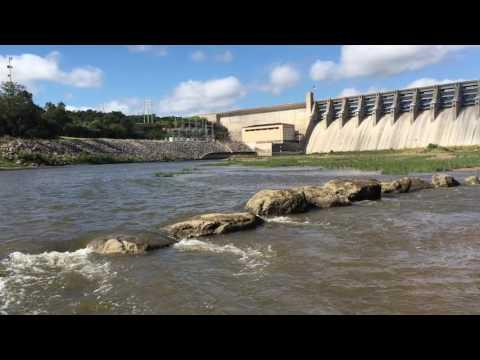 Brazos River Whitney Dam Water Release
