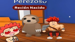 ROBLOX MY BABY PEREZOSO!!! Adopt Me! In Spanish