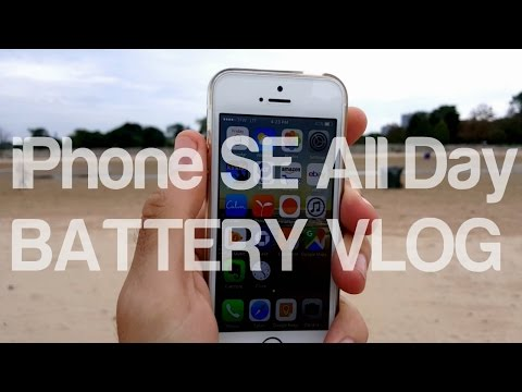 iPhone SE All Day Battery Test [VLOG#6]